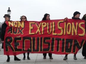 Marie-Christine Vergiat, député européen, à la journée Stop aux expulsionsforcées