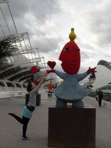 A Valence, pour se détendre et s'amuser, l'endroit préféré de Diana est la Ciudad de las Artes y las Ciencias