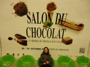 Le Salon du chocolat est l'occasion parfaite pour Gabriela de renouer avec la capitale française