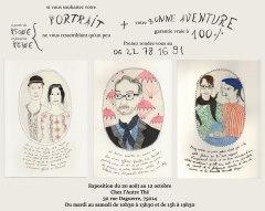 """L'exposition """"Des portraits qui ne vous ressemblent qu'un peu"""" est ouverte jusqu'au 12 octobre au salon L'autre Thé, Paris 14e"""