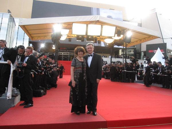 Au Festival de Cannes 2009, en compagnie de sa femme, Dominique Boy Mottard