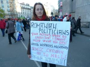 Sous la pression des manifestations, le Parlement roumain a rejeté le projet minier à Rosia Montana le 3 juin dernier